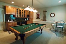 A Finished Basement as a Family room
